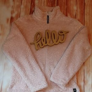 Avalanche fuzzy zip up. Size L